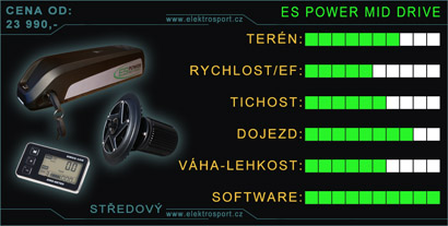 kvalitní středový pohon es power mid drive
