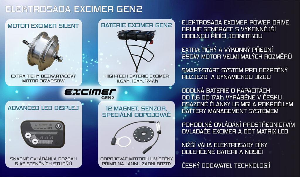 přední motor pro elektrokolo excimer gen2