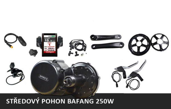 Středový motor BAFANG 8FUN 250W + rámová nebo nosičová baterie