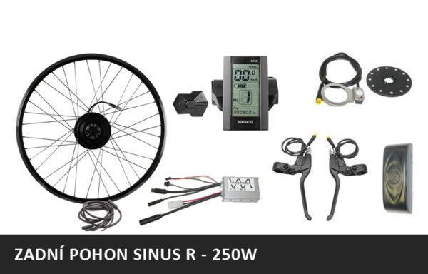 Elektrosada SINUS R – ZADNÍ MOTOR – 36V/250W + rámová nebo nosičová baterie