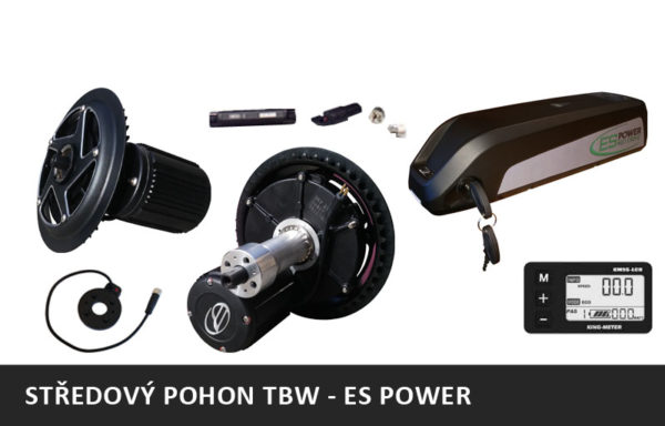 Středový motor TBW – ES POWER MID DRIVE + rámová baterie
