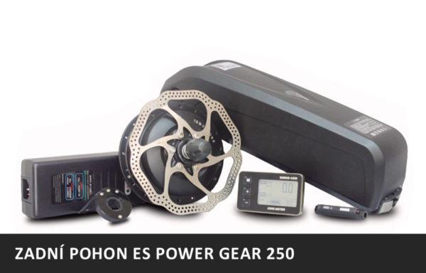 Elektrosada T12B – ES POWER GEAR 250 – 36V/250W + Rámová Baterie 14,5Ah
