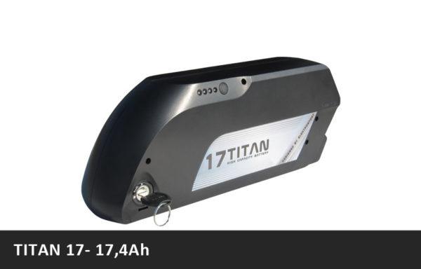 Vysokokapacitní rámová baterie TITAN 17 – 17,4Ah