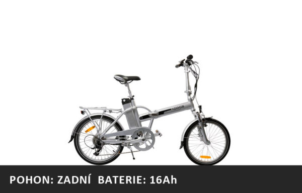 Skládací elektrokolo Agogs SilverGo 2020 – pláště 20″ – XL baterie 16Ah