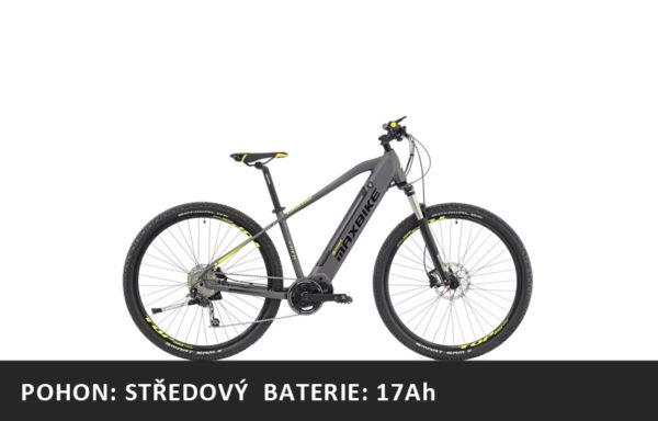 Horské elektrokolo Maxbike Hakon 29 šedý – pláště 29″ – rám 16,5″ | 19″ | 21″