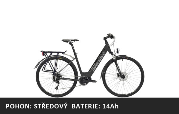Městské elektrokolo Maxbike Urbea 2020 černá – pláště 28″ – rám 18″ – baterie 14Ah