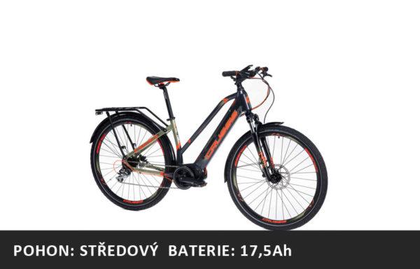 Trekové elektrokolo Crussis e-Savela 7.6-S (2021) – rám 17″ nebo 19″ – baterie 17,5Ah