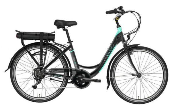 Městské elektrokolo Lovelec Polaris Black-Mint, model 2019 – 13Ah velikost rámu: 17″