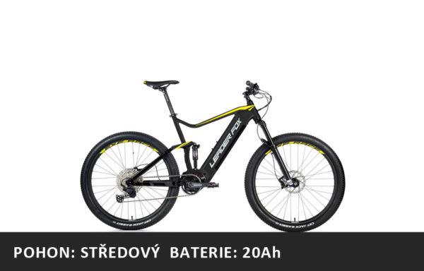 Celoodpružené Horské elektrokolo Leader Fox Acron 27,5″ 2021-1 – černá mat/žlutá – rám 16″ | 17,5″ | 19,5″ – baterie 20Ah