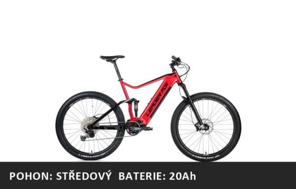 Celoodpružené Horské elektrokolo Leader Fox Acron 29″ 2021-1 – tmavě červená/černá – rám 17,5″ | 19,5″ | 21,5″ – baterie 20Ah