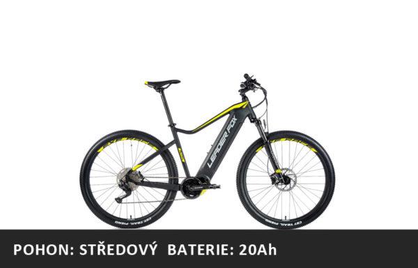 Horské elektrokolo Leader Fox Altar 27,5″ 2021-1 – černá mat/žlutá – rám 16″ | 17,5″ | 19,5″  – baterie 20Ah