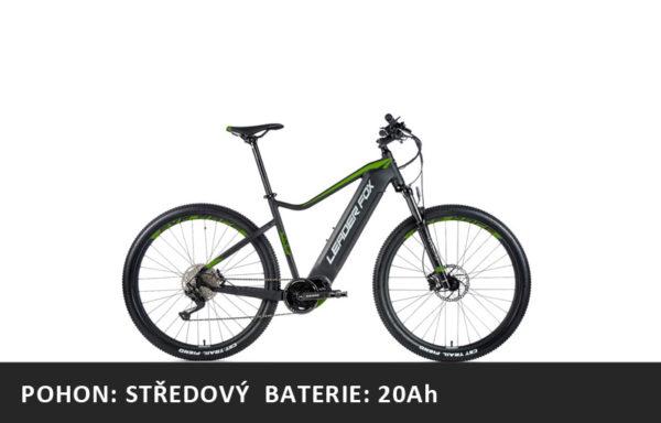 Horské elektrokolo Leader Fox Awalon 29″ 2021-1 – černá mat/zelená – rám 17,5″ | 19,5″ | 21,5″ – baterie 20Ah