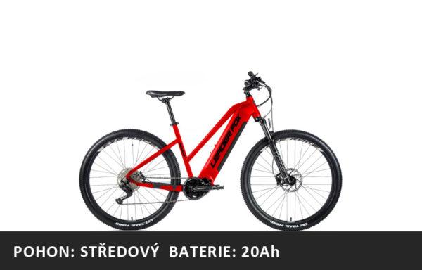 Horské elektrokolo Leader Fox Awalon 29″ dámské 2021-1 – černá červená/černá – rám 16,5″ | 18″ | 20″ – baterie 20Ah