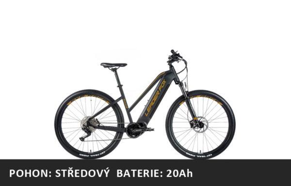 Horské elektrokolo Leader Fox Awalon 29″ dámské 2021-2 – černá mat/zlatá – rám 16,5″ | 18″ | 20″ – baterie 20Ah