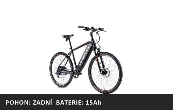 Krosové elektrokolo Leader Fox BARNET 2021-1 – černá mat/oranžová – rám 17,5″ | 19″ | 20,5 | 22,5″ – baterie 15Ah