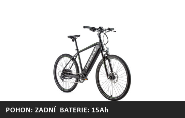 Krosové elektrokolo Leader Fox BARNET 2021-2 – černá mat/zelená – rám 17,5″ | 19″ | 20,5 | 22,5″ – baterie 15Ah