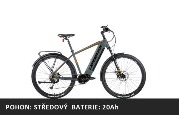 Krosové elektrokolo Leader Fox BEND 2021-1 – šedá/oranžová – rám 17,5″ | 19″ | 20,5″ | 22,5″ – baterie 20Ah