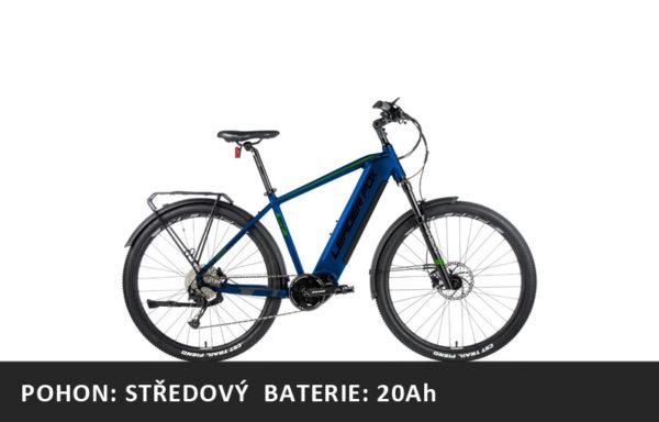 Krosové elektrokolo Leader Fox BEND 2021-2 – tmavě modrá/zelená – rám 17,5″ | 19″ | 20,5″ | 22,5″ – baterie 20Ah