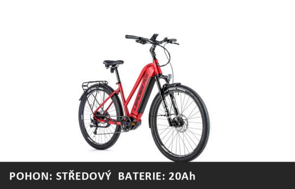 Krosové elektrokolo Leader Fox BEND dámské 2021-2 – červená/černá – rám 16,5″ | 18″ | 20″ – baterie: 20Ah