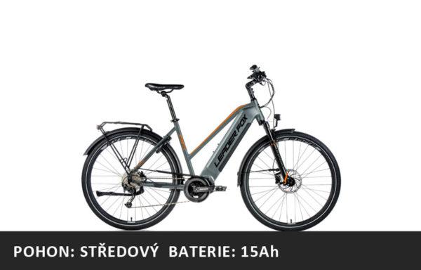 Trekingové elektrokolo Leader Fox DENVER dámské 2021-1 – šedá/oranžová – rám 16,5″ | 18″ | 20″ – baterie 15Ah