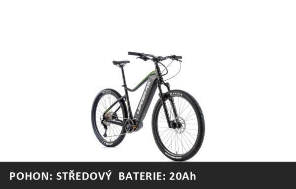 Horské elektrokolo Leader Fox Kent 29″ 2021-1 – černá mat/zelená – rám 17,5″ | 19,5″ | 21,5″ – baterie 20Ah