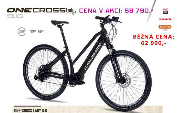 AKCE – Krosové elektrokolo Crussis ONE-Cross lady 9.6-S (2021) – rám 19″ – baterie 17,5Ah