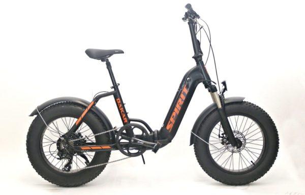 Skládací elektrokolo FATBIKE Spirit DAKAR – 2022 – černá/oranžová – baterie 12,8Ah